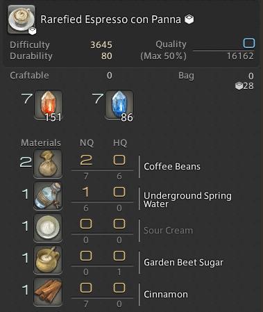 ffxiv craft collectables espresso con panna guide ffxivgillionaire gil